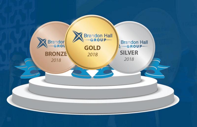 BrandonHallTechAwards2018 bronze silver and gold logos