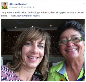 Judy Albers and Allison Rossett selfie