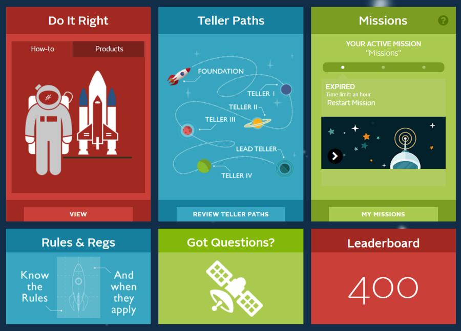 Teller Hub homepage