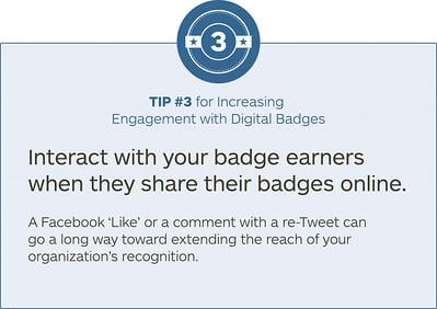 tip #3 for increasing engagement with digital badges