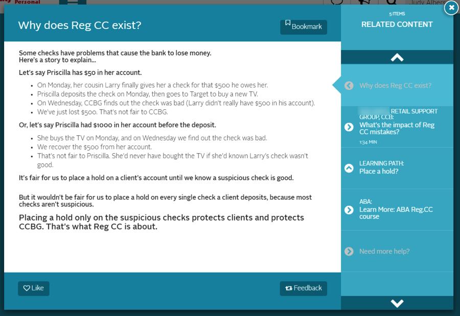 Reg CC example story