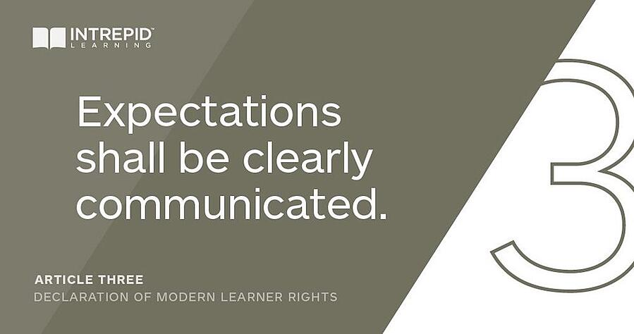 Article3 of the Declaration of Modern Learner Rights