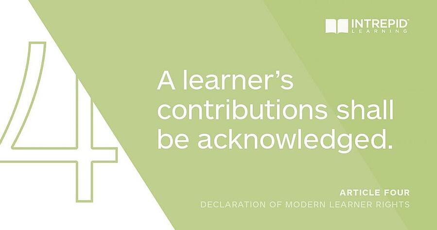 Article4 of the Declaration of Modern Learner Rights