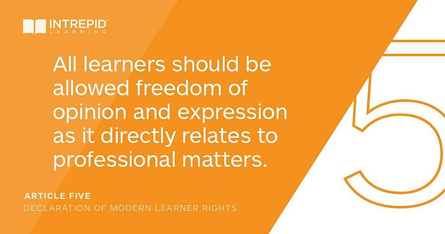 Article5 of the declaration of modern learner rights