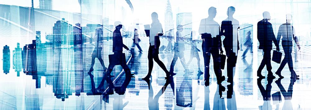 image of businesspeople walking