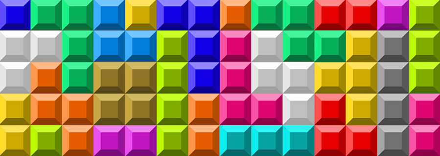 Gamification colorful blocks