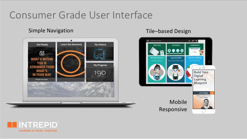 Screenshots of the Intrepid platform