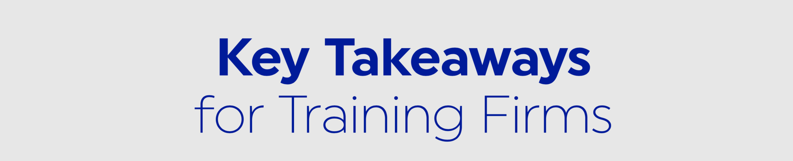 Training Firms