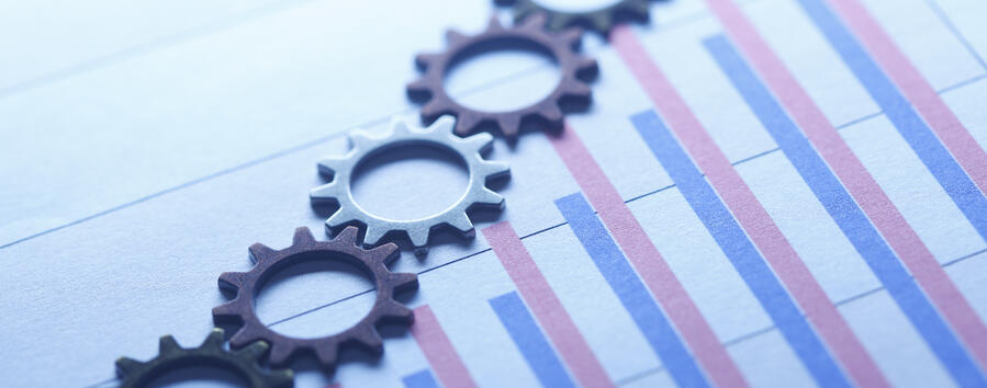 Gears and metric chart bars