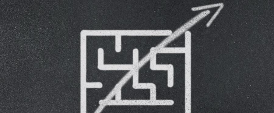 arrow cutting through a maze