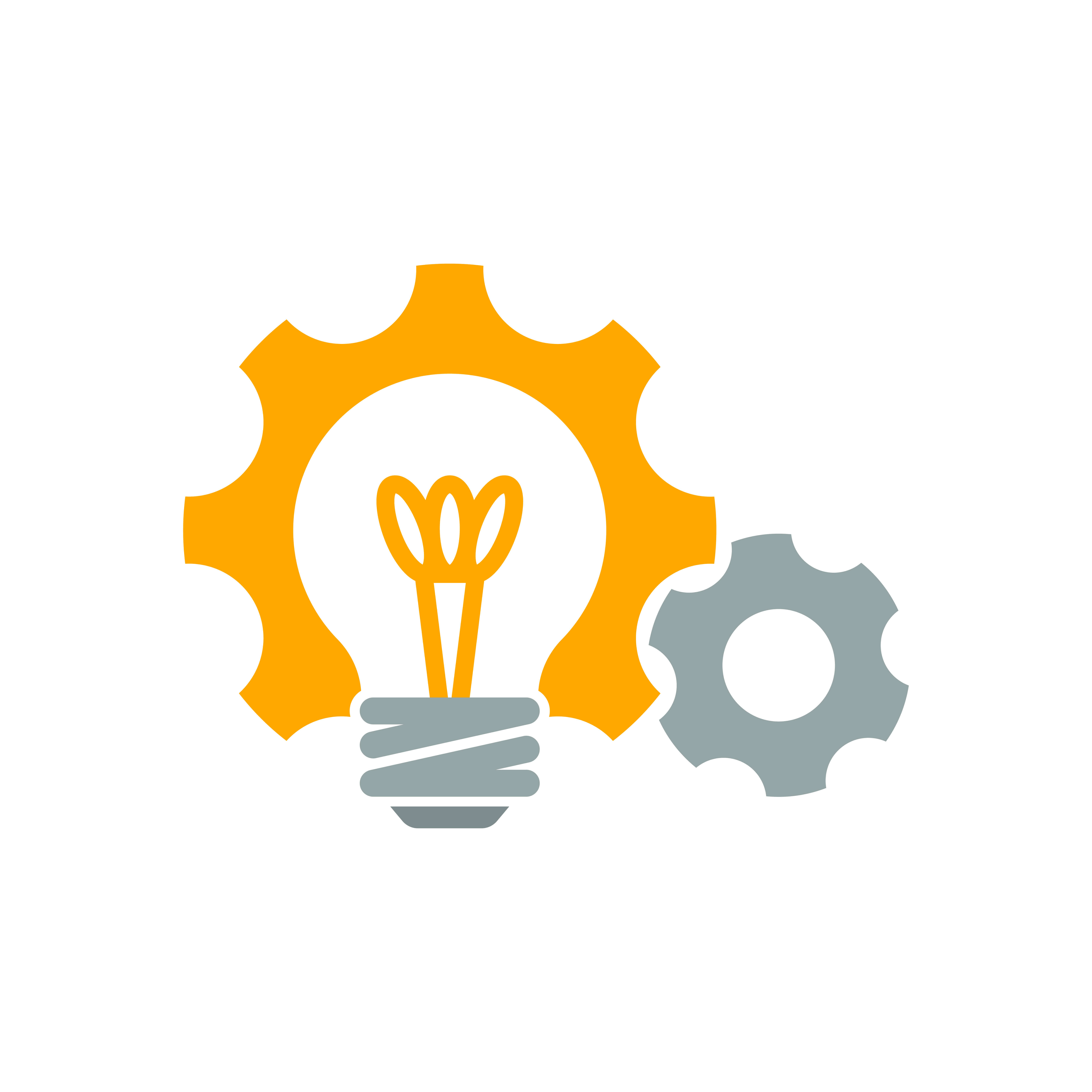 Lightbulb and gear icon